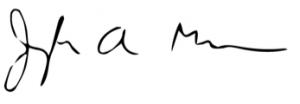 Joseph Mason Signature